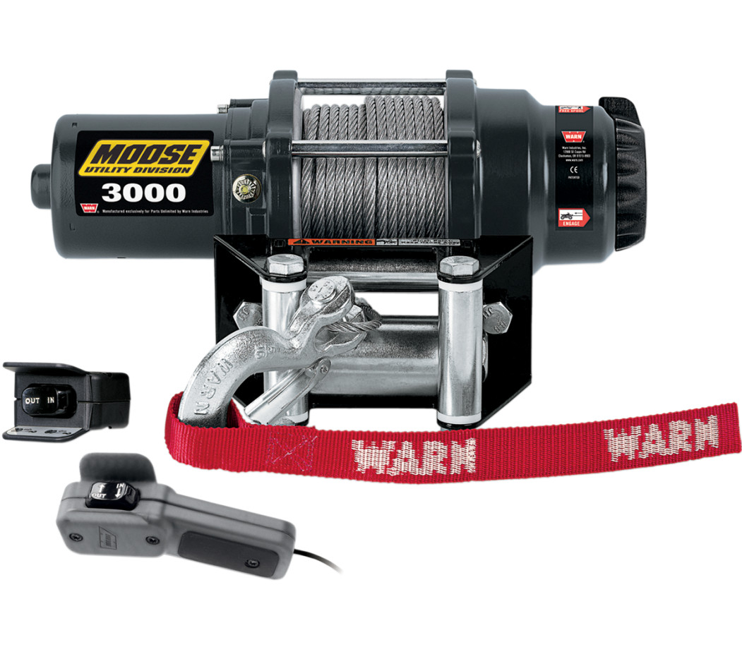 moose rope winch 3000 12v 1360kg yamaha grizzly yfm 350. Black Bedroom Furniture Sets. Home Design Ideas